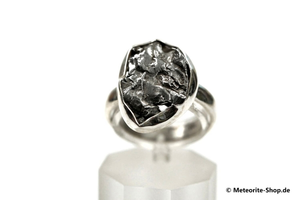 Eisen-Meteorit-Ring (Campo del Cielo   Gefasst   Gr. 54   925er Silber) - 5,70 g