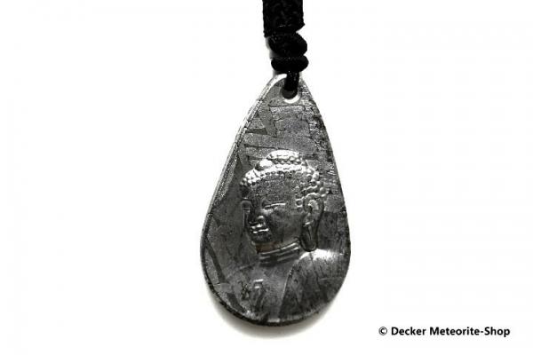 Stein-Eisen-Meteorit-Anhänger (Seymchan | Scheibe | Mahayana Buddha Carved Amulett) - 22,50 g