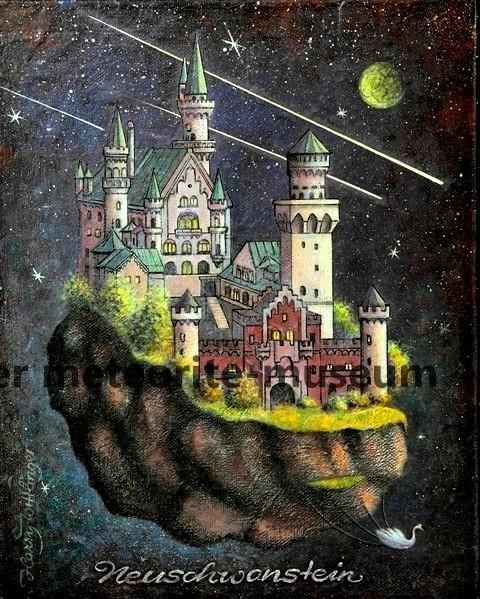 Neuschwanstein Meteoritenfall Gemälde (Motiv I)