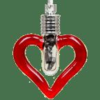 Sternschnuppen-Anhänger in romantischen Herz-Designs