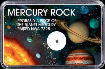 Merkur Meteorit NWA 7325 (Motiv: Sonnensystem Planeten II)