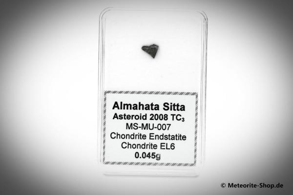 Almahata Sitta Meteorit (MS-MU-007: Enstatit-Chondrit > EL6) - 0,045 g