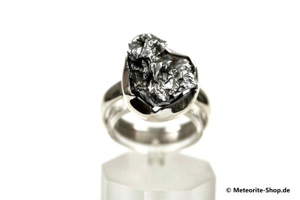 Eisen-Meteorit-Ring (Campo del Cielo | Gefasst | Gr. 55 | 925er Silber) - 6,20 g