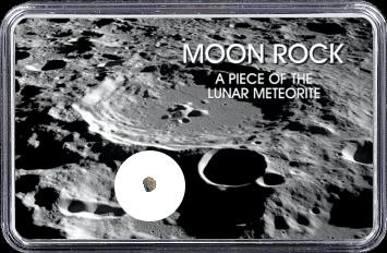 Mond Meteorit NWA 10318 (Motiv: Mond-Einschlagskrater und Mondgestein I)
