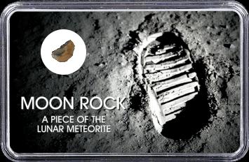 Mond Meteorit NWA 10317 (Motiv: Astronaut-Fußabdruck im Mondstaub)