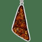 Stein-Eisen-Meteorit-Anhänger (Jepara | Scheibe | 925er Silber)