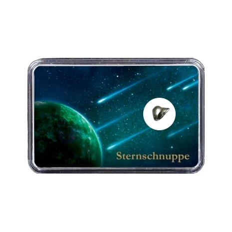 Sternschnuppe im Weltall vor Planet (Motiv II)