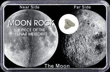 Mond Meteorit NWA 11407 (Motiv: Mond-Vorder- und Rückseite)