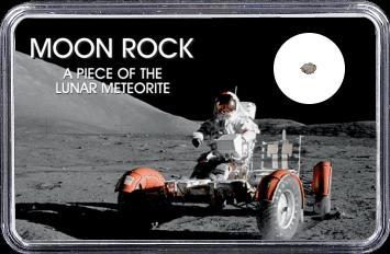 Mond Meteorit NWA 4881 (Motiv: Astronaut mit LRV I)