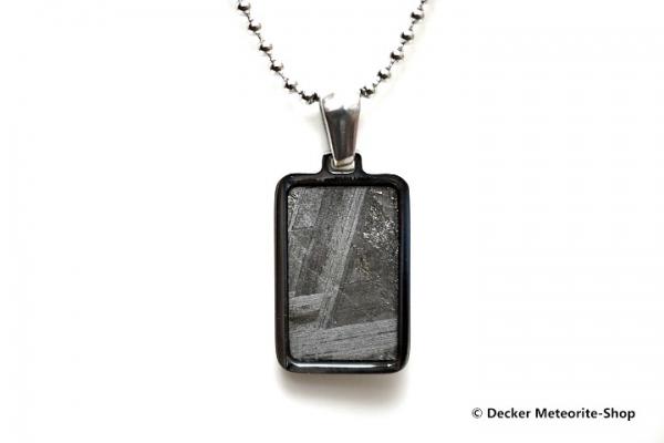 Stein-Eisen-Meteorit-Anhänger (Seymchan | Rechteck | Natura) - 3,00 g