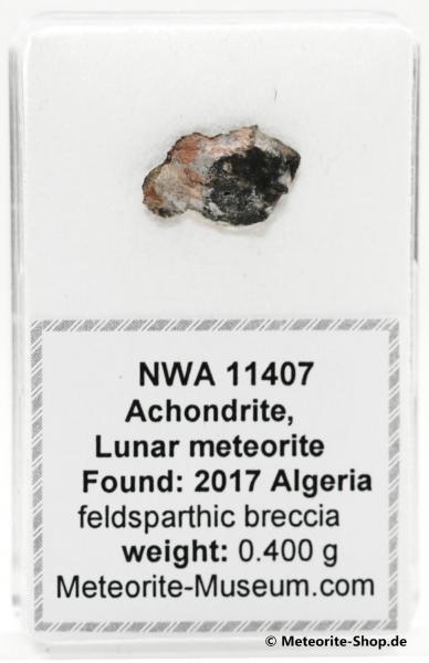 NWA 11407 Mond Meteorit - 0,400 g