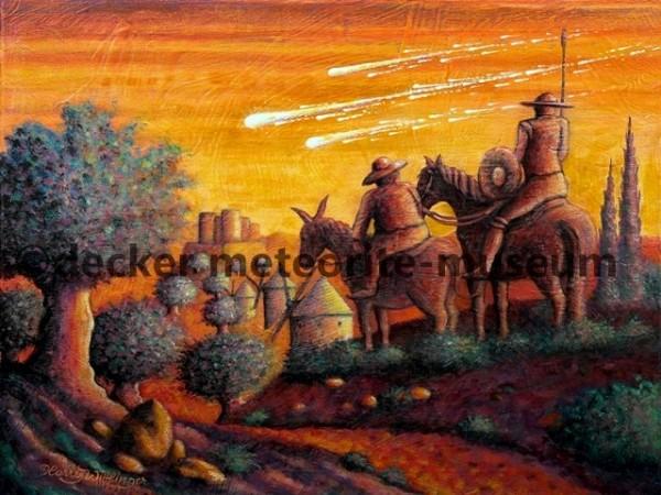 Puerto Lápice Meteoritenfall Gemälde