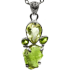 Kategorie Multi-Stein-Anhänger (Tektit, Olivin (Peridot) & Quarzkristall | Natura | 925er Silber)