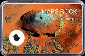 Mars Meteorit NWA 6963 (Motiv: Mars Vulkan Olympus Mons)