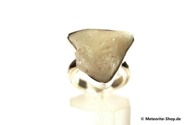 Libyscher Wüstenglas-Ring (Impaktglas | Natura | Gr. 58 | 925er Silber) - 6,60 g