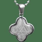 Eisen-Meteorit-Anhänger (Muonionalusta | Kleeblatt)