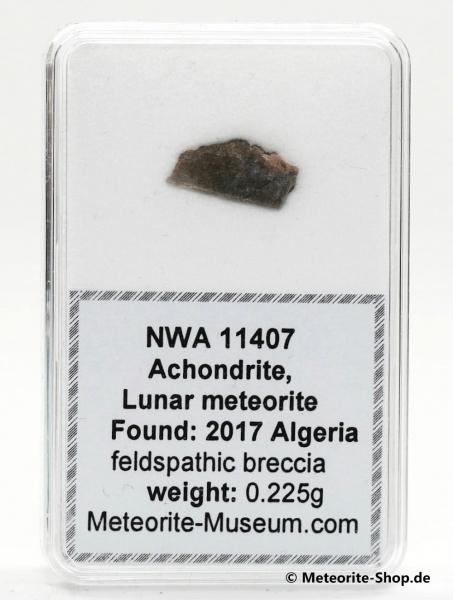 NWA 11407 Mond Meteorit - 0,225 g