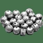 Eisen-Meteorit-Anhänger (Aletai | Zylinder & Perle | Gelocht & Versiegelt)