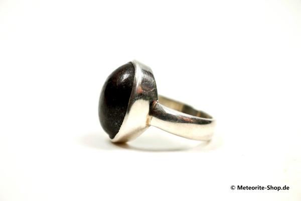 Stein-Meteorit-Ring (NWA 869 | Cabochon | Gr. 55 | 925er Silber) - 7,50 g