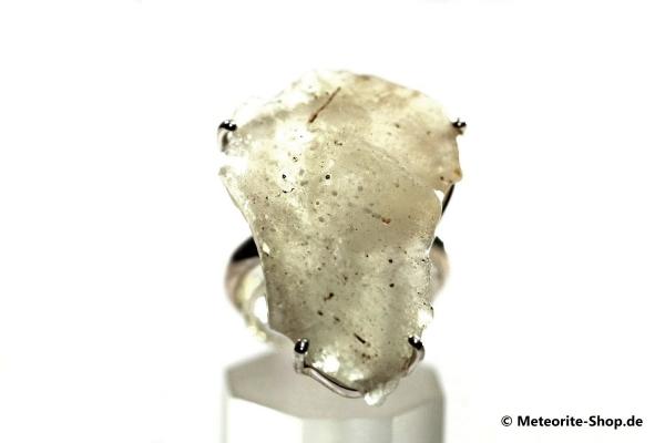 Libyscher Wüstenglas-Ring (Impaktglas | Natura | Gr. 59 | 925er Silber) - 7,60 g