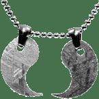 Eisen-Meteorit-Anhänger (Muonionalusta | Partner-Anhänger | Yin und Yang)