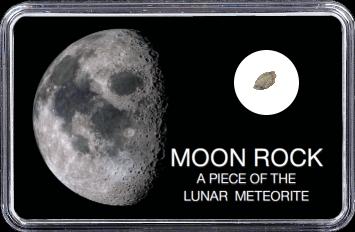 Mond Meteorit NWA 10317 (Motiv: Halbmond)