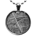 Eisen-Meteorit-Anhänger (Muonionalusta | Scheibe)