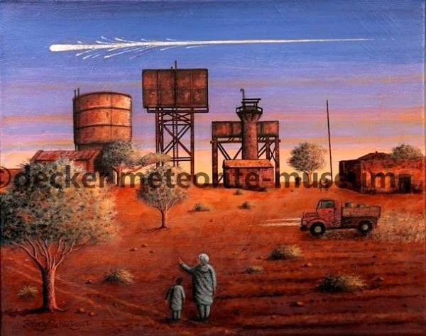 Almahata Sitta Meteoritenfall Gemälde (Motiv II)
