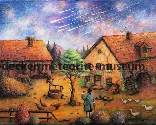 L'Aigle Meteoritenfall Gemälde