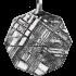 Kategorie Eisen-Meteorit-Anhänger (Muonionalusta | Achteck | Rhodiniert)