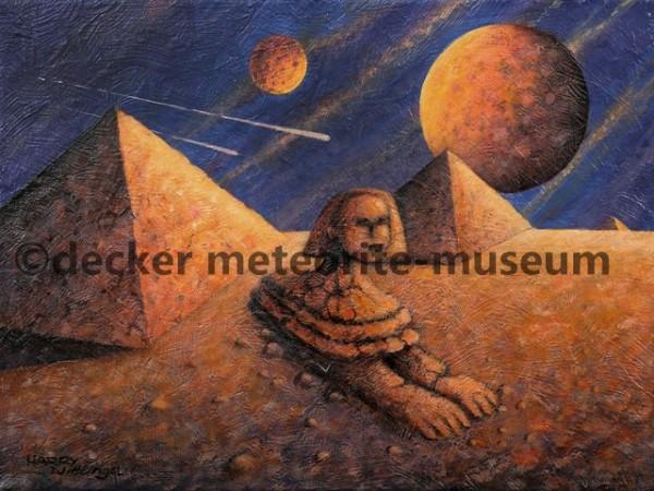 Gebel Kamil Meteoritenfall Gemälde (Motiv I)