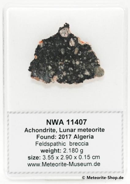 NWA 11407 Mond Meteorit - 2,18 g