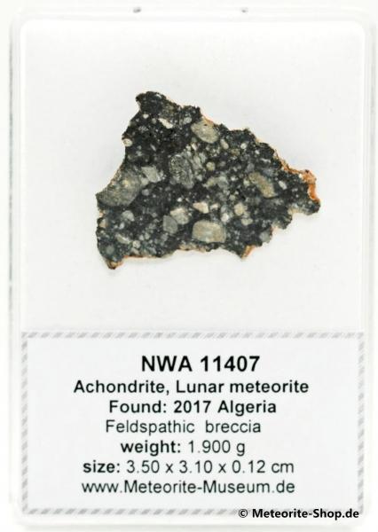 NWA 11407 Mond Meteorit - 1,90 g