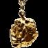 Kategorie Eisen-Meteorit-Anhänger (Campo del Cielo | Natura | Vergoldet)