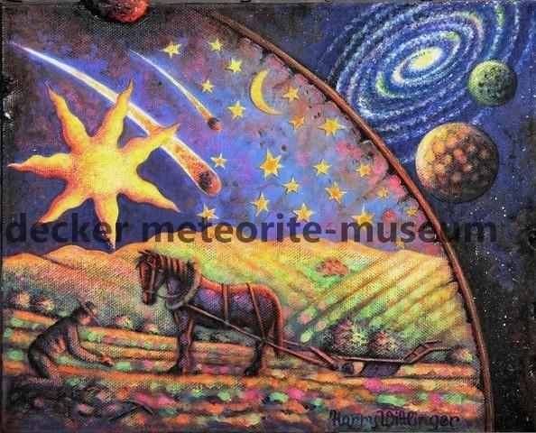 Ensisheim Meteoritenfall Gemälde (Motiv II)