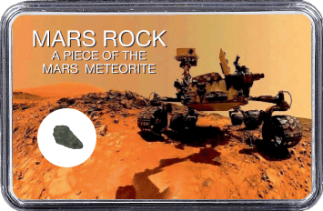 Mars Meteorit NWA 6963 (Motiv: Mars Rover Curiosity Selfie I)
