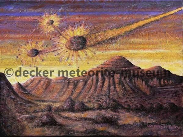Allende Meteoritenfall Gemälde