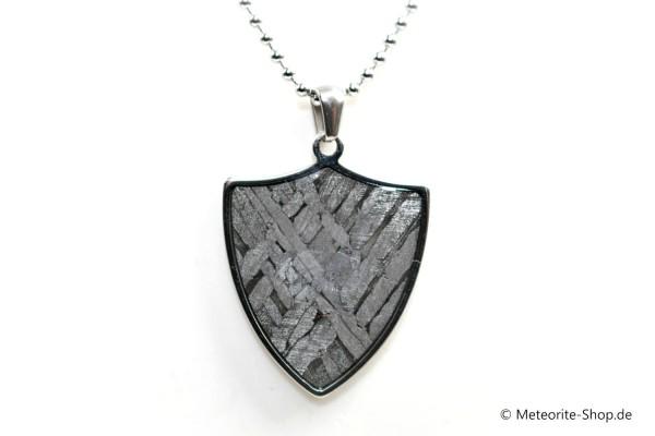 Stein-Eisen-Meteorit-Anhänger (Seymchan | Schild) - 7,90 g