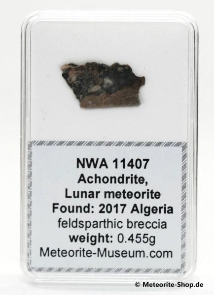 NWA 11407 Mond Meteorit - 0,455 g