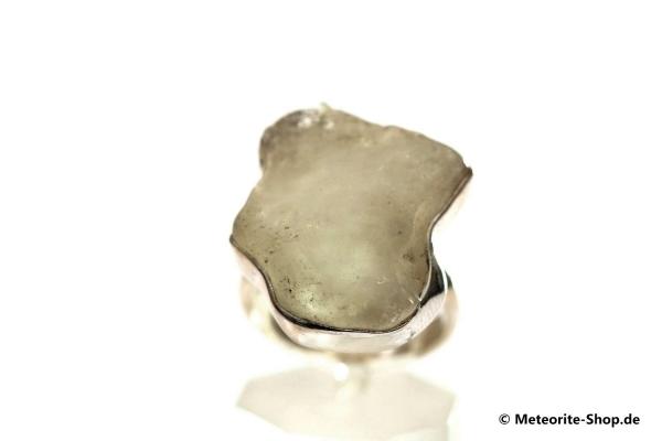 Libyscher Wüstenglas-Ring (Impaktglas | Natura | Gr. 56 | 925er Silber) - 7,90 g